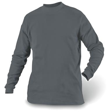 Guide Gear Men's Mock Turtleneck Long-Sleeve Shirt, Charcoal