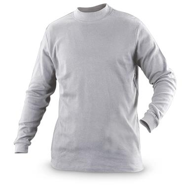 Guide Gear Men's Mock Turtleneck Long-Sleeve Shirt, Gray