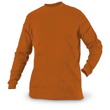 Guide Gear Men's Mock Turtleneck Long-Sleeve Shirt, Dark Orange