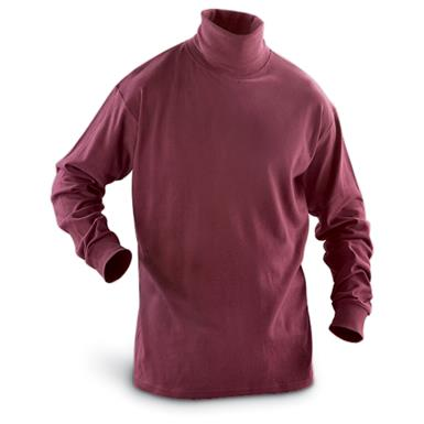 Guide Gear Men's Turtleneck Long-Sleeve Shirt, Wine