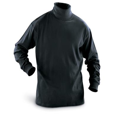 Guide Gear Men's Turtleneck Long-Sleeve Shirt, Black