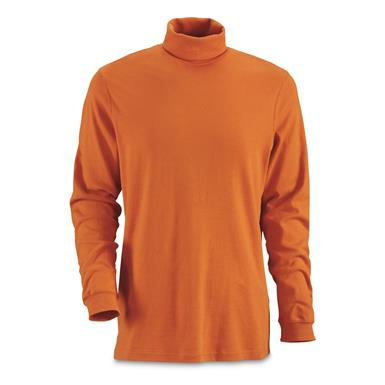 Guide Gear Men's Turtleneck Long-Sleeve Shirt, Dark Orange