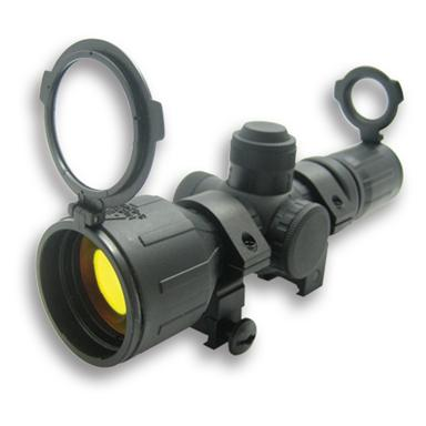 NcSTAR® 3-9x42mm Red / Green Illuminated Reticle Compact Rubber Tactical Scope, Weaver-mount