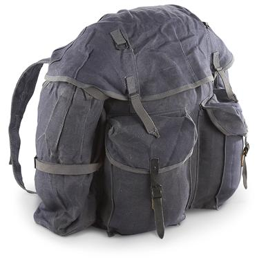 Used Italian Military Rucksack, Blue