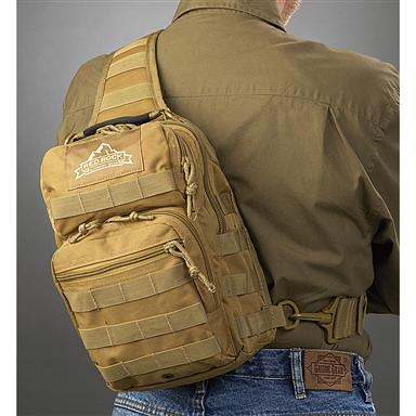 Red Rock Outdoor Gear Rover Sling Bag, Coyote Tan