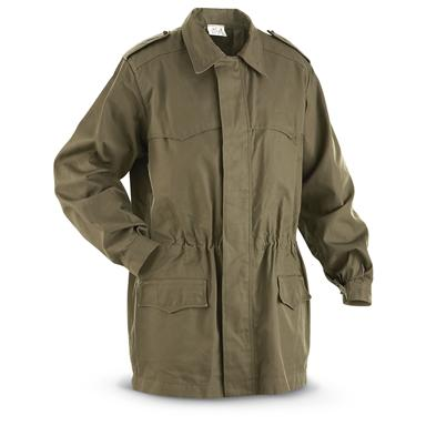 Used Italian Military Surplus Parka with Liner, Olive Drab
