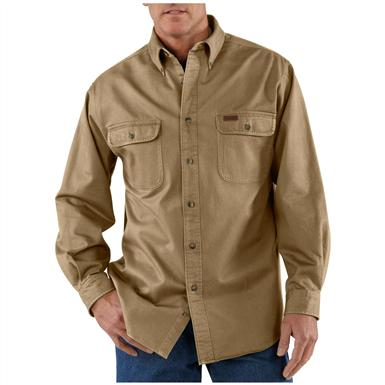 Men's Carhartt® Sandstone Twill Shirt, Cottonwood