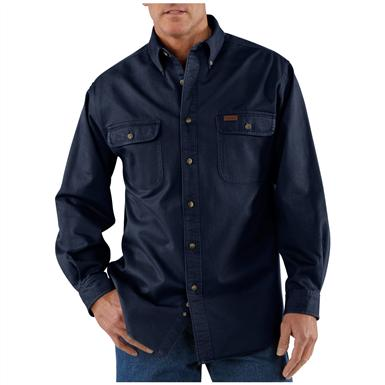 Men's Carhartt® Sandstone Twill Shirt, Midnight