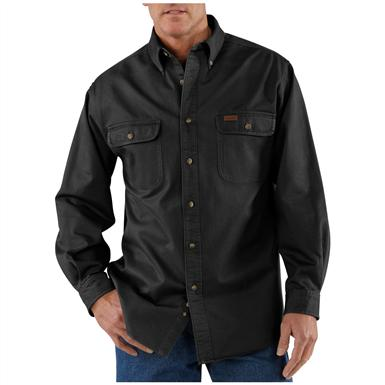 Men's Carhartt® Sandstone Twill Shirt, Black