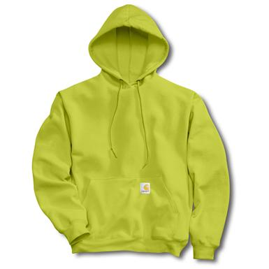 Carhartt® Workwear Color Enhanced Hooded Pullover Sweatshirt, Bright Lime