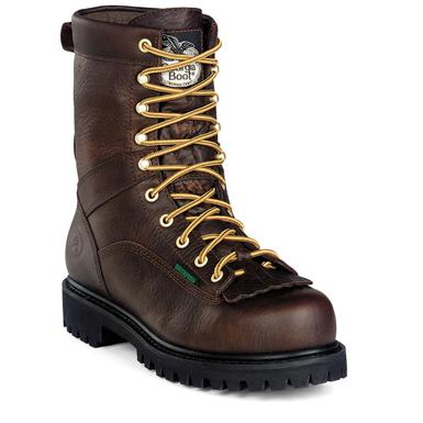 Men's Georgia® Waterproof Low Heel Steel Toe Logger Work Boots
