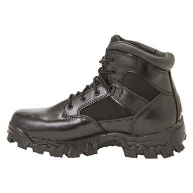 "Rocky Men's 6"" AlphaForce Waterproof Composite Toe Duty Boots, Black"