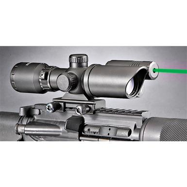 Firefield® 1.5-5x32 mm Green Laser Rifle Scope, Matte Black
