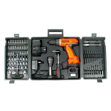 Trademark Global® Cordless Drill Set with Bits