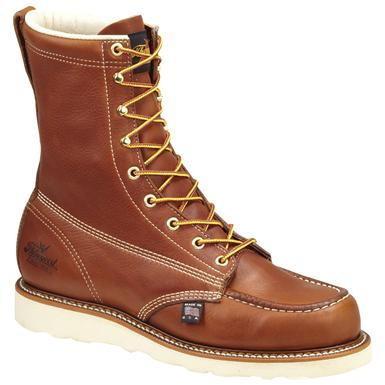 Men's Thorogood® Moc-Toe Safety Toe Work Boots, Tobacco