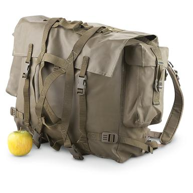 Used Swiss M90 Rucksack, Olive Drab; 1049 3/4-cu. in. capacity