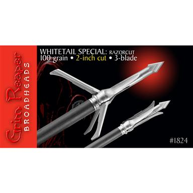 "Grim Reaper RazorCut Whitetail Special 2"" 100 Broadheads, 3 Pack"