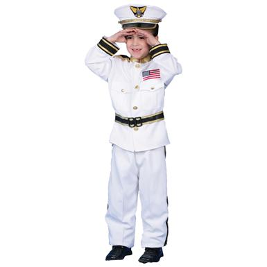 Morris Costumes Child's Deluxe Navy Admiral Costume