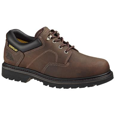 Men's CAT® Ridgemont Steel Toe Work Shoe, Dark Brown
