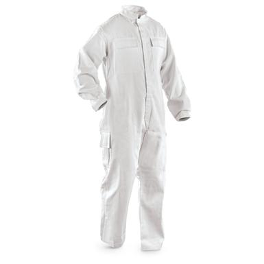 New British Navy Officer's Nomex Coveralls, White
