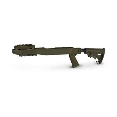 TAPCO SKS Railed Stock System, Dark Earth, Olive Drab