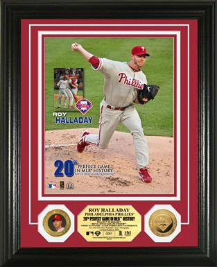 Roy Halladay Perfect Game 24-Karat Gold Coin Photo Mint