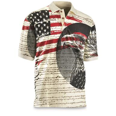 Guide Gear Men's Americana Polo Shirt, We the People