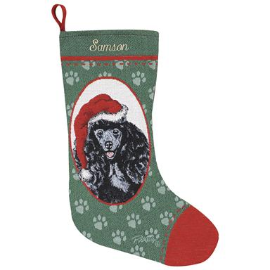 Personalized Black Poodle Stocking
