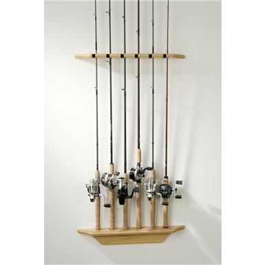 Organized Fishing Vertical Wall Rod Rack