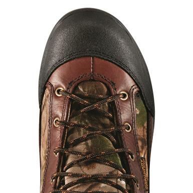 Reinforced, abrasion-resistant toe cap and rubber outsole for long-lasting durability, Realtree Apg Hd