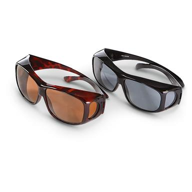Guide's Choice Polarized Fit Over Sunglasses, 2 Pairs, Large  (0E2