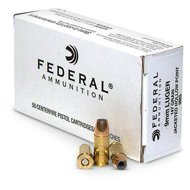 Federal® 9mm 147 - grain JHP Ammo
