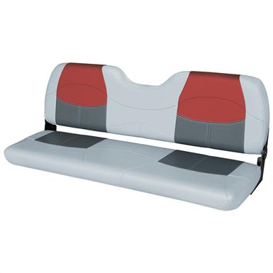 Wise® 58 inch Blast-Off™ Series Bench Seat,  Grey / Charcoal / Red