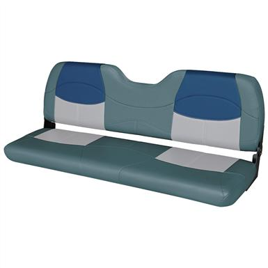Wise® Blast-Off™ Series Bench Seat, Charcoal / Green / Blue