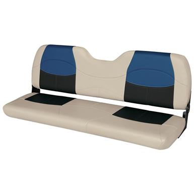 Wise® Blast-Off™ Series Bench Seat, Mushroom / Black / Blue