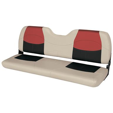Wise® Blast-Off™ Series Bench Seat, Mushroom / Black / Red