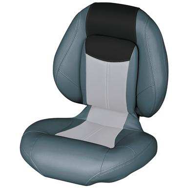 Wise® Blast-Off™ Series Centric 1 Folding Boat Seat, Charcoal / Grey / Black