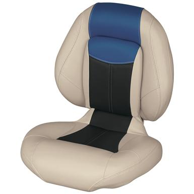 Wise® Blast-Off™ Series Centric 1 Folding Boat Seat, Mushroom / Black / Blue