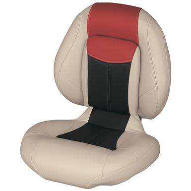 Wise® Blast-Off™ Series Centric 1 Folding Boat Seat, Mushroom / Black / Red