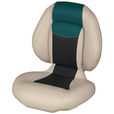 Wise® Blast-Off™ Series Centric 1 Folding Boat Seat, Mushroom / Black / Green