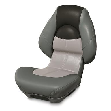 Wise Blast-Off Series Centric 2 Folding Boat Seat, Charcoal/Gray/Black