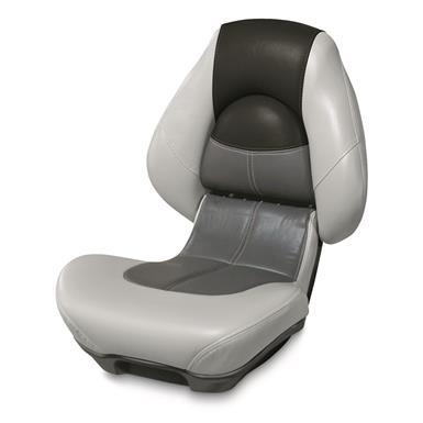 Wise Blast-Off Series Centric 2 Folding Boat Seat, Gray/Charcoal/Black
