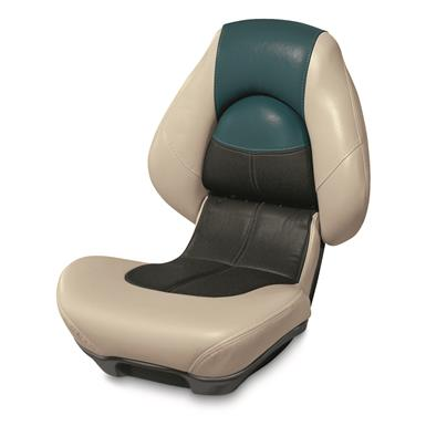 Wise Blast-Off Series Centric 2 Folding Boat Seat, Mushroom/Black/Green