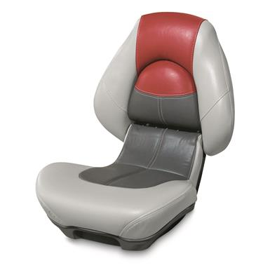 Wise Blast-Off Series Centric 2 Folding Boat Seat, Gray/Charcoal/Red
