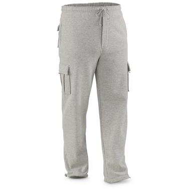 Guide Gear Men's Cargo Sweatpants, Gray