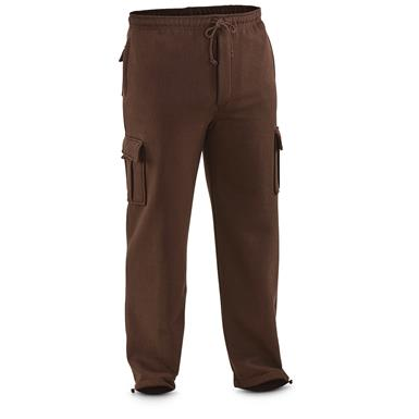 Guide Gear Men's Cargo Sweatpants, Bark Brown