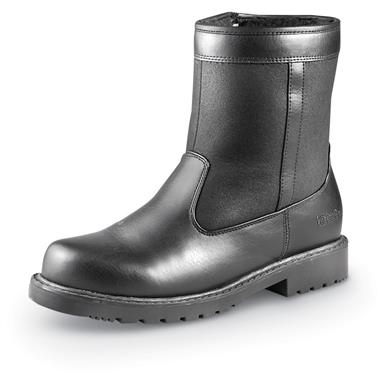 Totes Men's Side-Zip Stadium Boots, Black • Smooth looks for snow and slush!
