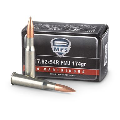 MFS, 7.62x54R, FMJ, 174 Grain, 500 Rounds