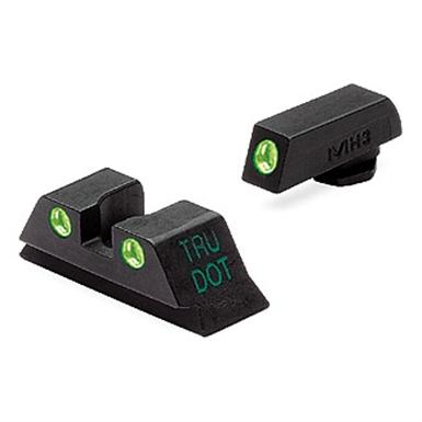 Meprolight® Tru-Dot® ML-10224 Fixed Front / Rear Sights for Glock 9, .357, .40 & .45 GAP cal., Green / Green