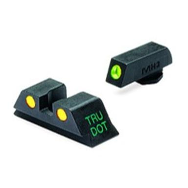 Meprolight® Tru-Dot® ML-10224 Fixed Front / Rear Sights for Glock 9, .357, .40 & .45 GAP cal., Green / Yellow